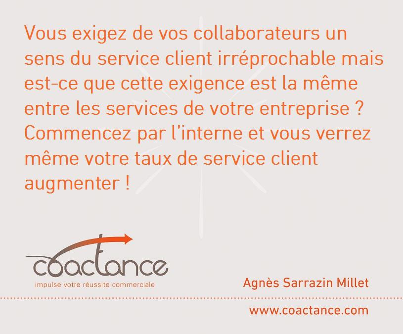 Le sens du service client, l'avez-vous en interne?